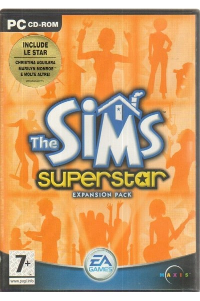 PC CD ROM THE SIMS SUPERSTAR EXPANSION PACK PAL ITALIANO COMPLETO