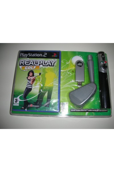 PLAYSTATION 2 PS2 REALPLAY GOLF PACK KIT DI ACCESSORI