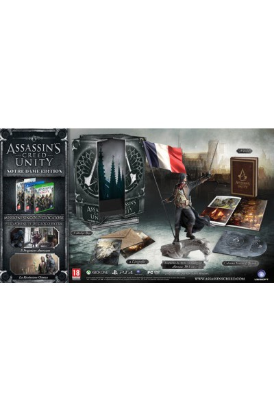 PS4 ASSASSIN'S CREED UNITY NOTREDAME NOTRE DAME COLLECTOR LIMITED EDITION OTTIMO