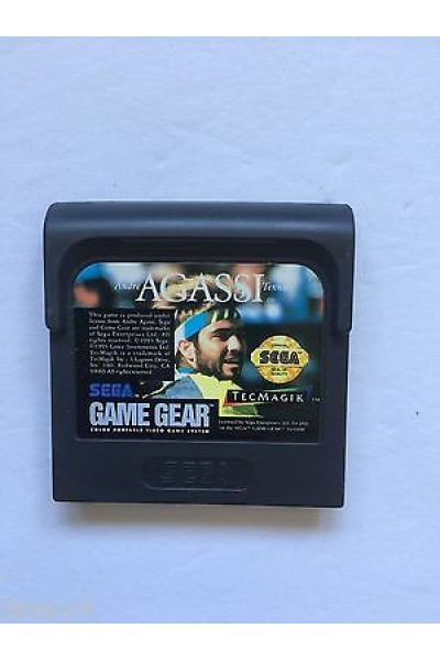 SEGA GAME GEAR ANDRE AGASSI TENNIS SOLO CARTUCCIA LOOSE RARE