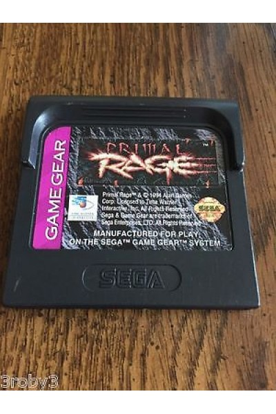 SEGA GAME GEAR PRIMAL RAGE NTSC USA SOLO CARTUCCIA LOOSE