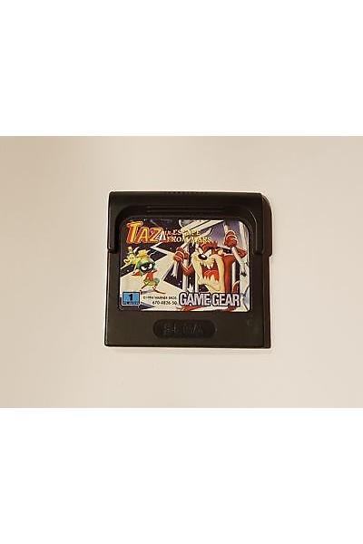 SEGA GAME GEAR TAZMANIA TAZ ESCAPE FROM MARS SOLO CARTUCCIA LOOSE RARE
