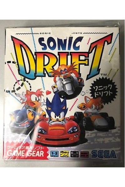 SEGA GAMEGEAR GAME GEAR SONIC DRIFT JAP JPN COMPLETO