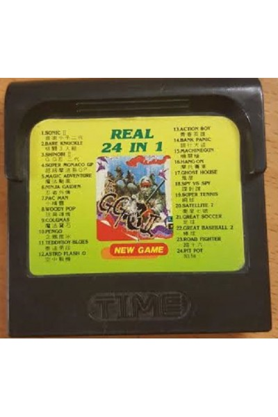 SEGA GAMEGEAR REAL 24 IN 1 SOLO CARTUCCIA LOOSE