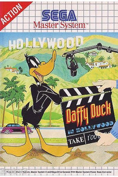 SEGA MASTER SYSTEM DAFFY DUCK IN HOLLYWOOD PAL ITALIANO COMPLETO DI MANUALE