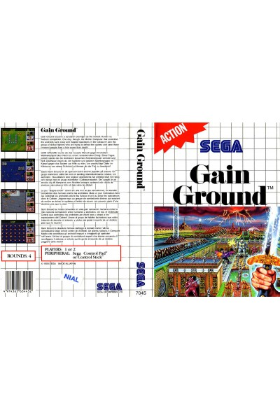 SEGA MASTER SYSTEM GAIN GROUND VERSIONE PAL SENZA MANUALE