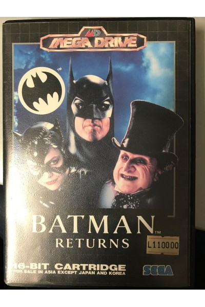 SEGA MEGA DRIVE BATMAN RETURNS VERSIONE PAL UK COMPLETO