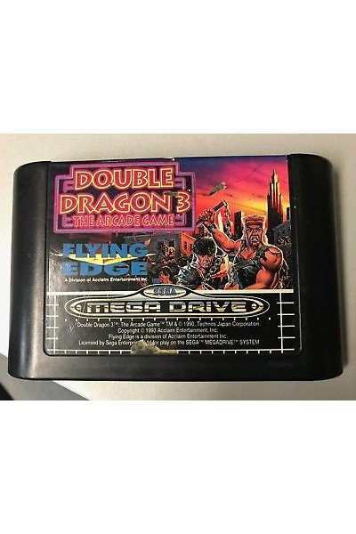 SEGA MEGA DRIVE DOUBLE DRAGON 3 LOOSE SOLO CARTUCCIA RARO