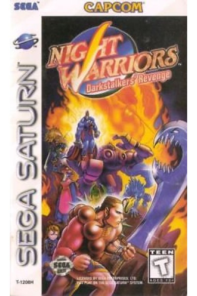 SEGA SATURN NIGHT WARRIORS DARKSTALKER'S REVENGE NTSC USA COMPLETO