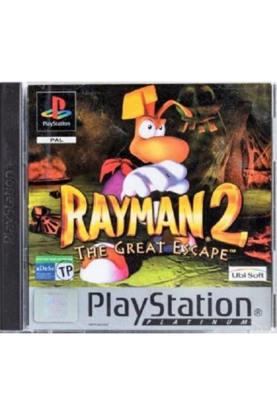 SONY PLAYSTATION 1 PS1 RAYMAN 2 THE GREAT ESCAPE VERSIONE PAL COMPLETO