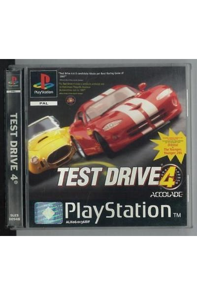 SONY PLAYSTATION 1 PS1 TEST DRIVE 4 PAL ITALIANO COMPLETO