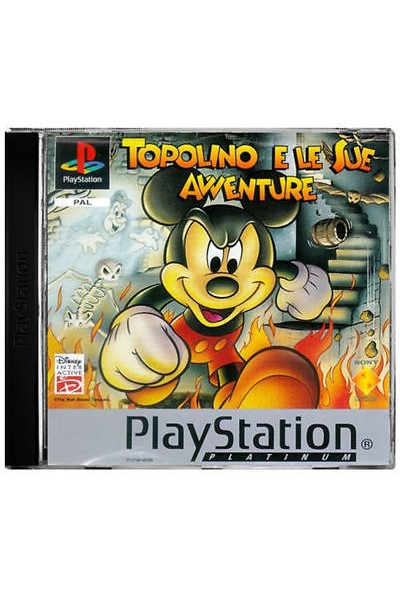 SONY PLAYSTATION 1 PS1 TOPOLINO E LE SUE AVVENTURE PAL ITALIANO COMPLETO