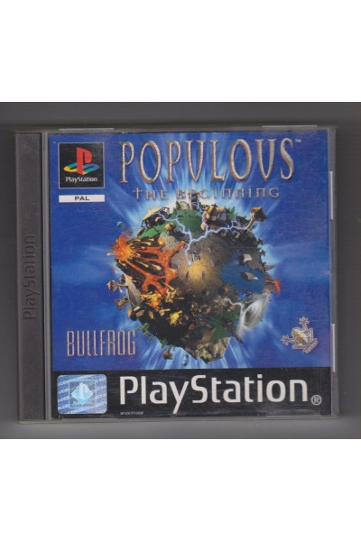 SONY PLAYSTATION 1PS1 POPULOUS THE BEGINNING PAL COMPLETO