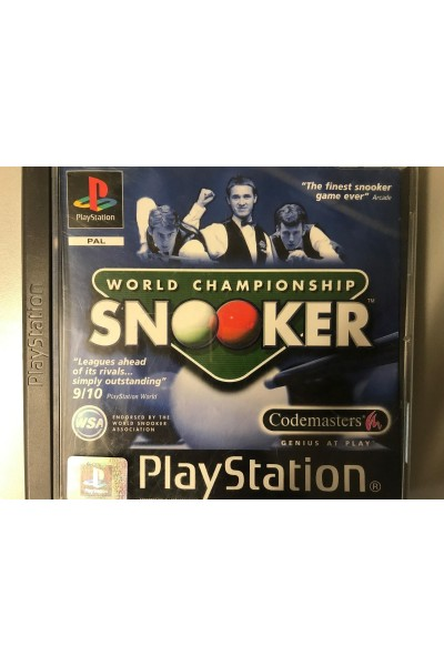SONY PLAYSTATION 1PS1 WORLD CAMPIONSHIP SNOOKER PAL COMPLETO