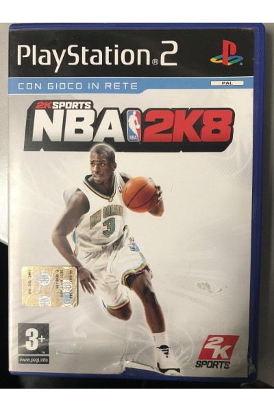 SONY PLAYSTATION 2 PS2 NBA 2K8 PAL ITALIANO SENZA MANUALE