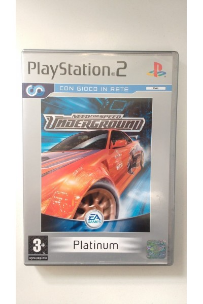 SONY PLAYSTATION 2 PS2 NEED FOR SPEED UNDERGROUND PAL ITALIANO COMPLETO