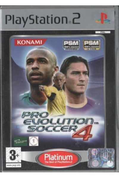 SONY PLAYSTATION 2 PS2 PES 4 PRO EVOLUTION SOCCER PAL SENZA MANUALE