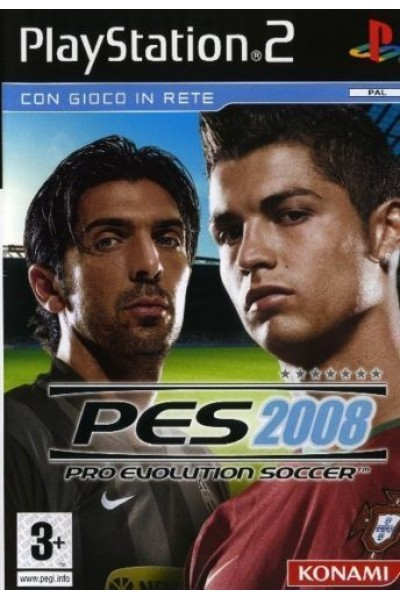 SONY PLAYSTATION 2 PS2 PRO EVOLUTION SOCCER PES 2008 PAL ITALIANO COMPLETO