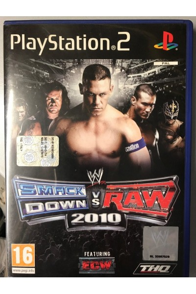 SONY PLAYSTATION 2 PS2 SMACKDOWN VS RAW 2010 PAL ITALIANO COMPLETO RARO