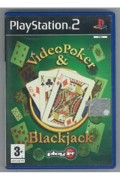 SONY PLAYSTATION 2 PS2 VIDEOPOKER E BLACKJACK PAL ITALIANO COMPLETO