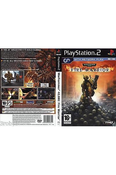 SONY PLAYSTATION 2 PS2 WARHAMMER 40.000 FIRE WARRIOR PAL ITALIANO COMPLETO