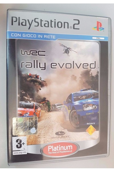 SONY PLAYSTATION 2 PS2 WRC RALLY EVOLVED PAL ITALIANO COMPLETO