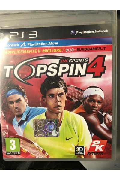 SONY PLAYSTATION 3 PS3 TOP SPIN 4 PAL ITALIANO COMPLETO