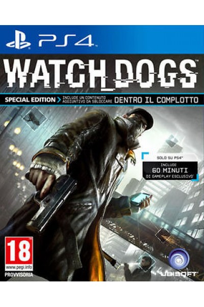 SONY PLAYSTATION 4 PS4 WATCHDOGS PAL ITALIANO COMPLETO
