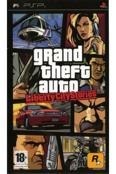 SONY PLAYSTATION PORTABLE PSP GTA LIBERTY CITY STORIES PAL ITA SENZA MANUALE