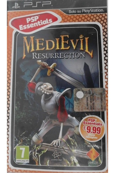SONY PLAYSTATION PORTABLE PSP MEDIEVIL RESURRECTION PAL ITALIANO COMPLETO