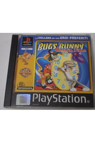 SONY PLAYSTATION PS1 BUG'S BUNNY LOST IN TIME PAL ITALIANO COMPLETO @EB