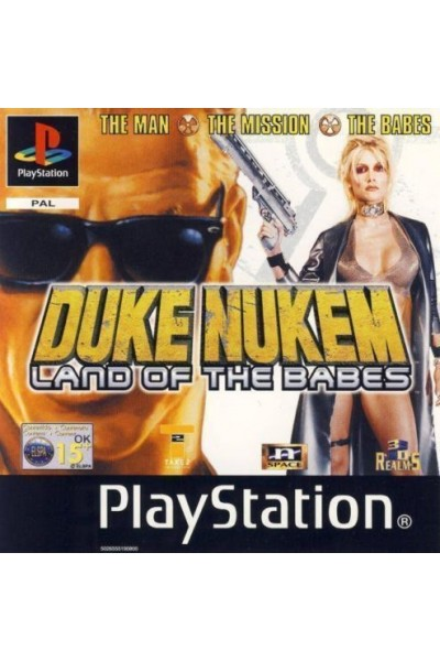 SONY PLAYSTATION PS1 DUKE NUKEM LAND OF THE BABES PAL UK COMPLETO