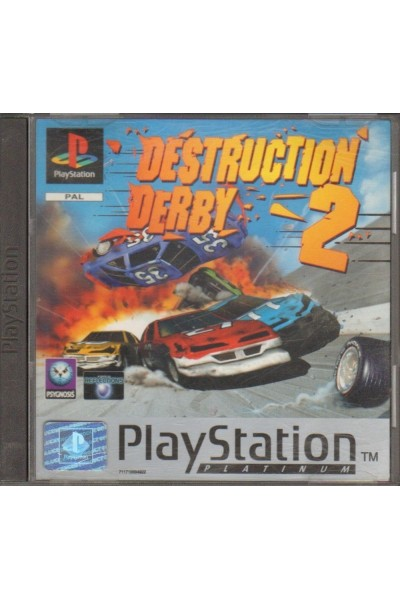 SONY PS1 PLAYSTATION 1 DESTRUCTION DERBY 2 PAL ITALIANO COMPLETO