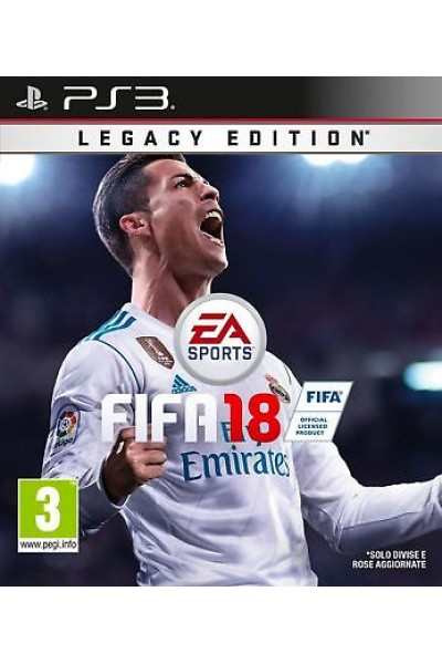 SONY PS3  PLAYSTATION 3 FIFA 18 LEGACY EDITION PAL ITALIANO NUOVO SIGILLATO