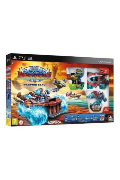 SONY PS3 PLAYSTATION 3 SKYLANDERS SUPERCHARGERS STARTER PACK NUOVO SIGILLATO