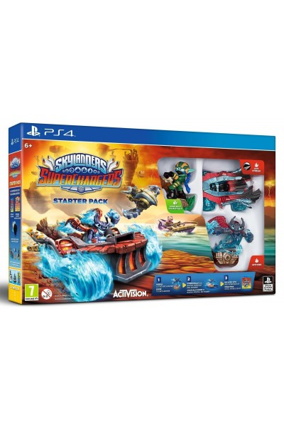 SONY PS4 PLAYSTATION 4 SKYLANDERS SUPERCHARGERS STARTER PACK NUOVO SIGILLATO