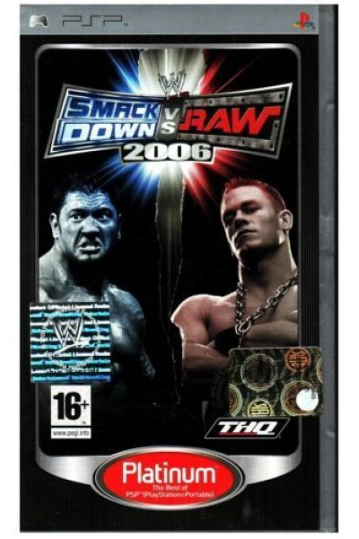SONY PSP WWE SMACK DOWN VS RAW 2006 PAL ITALIANO SENZA MANUALE