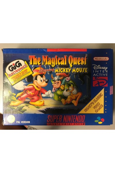 SUPER NINTENDO THE MAGICAL QUEST STARRING MICKEY MOUSE PAL COMPLETO GIG