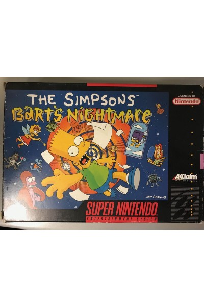 SUPER NINTENDO THE SIMPSONS BART'S NIGHTMARE PAL BOXATO